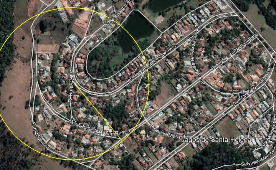 Terreno, Jardim Santa Helena, zona sul, próximo ao lago do Taboão, Bragança Paulista, chácara em área urbana.